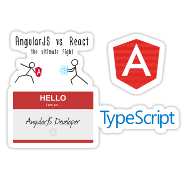 All our #AngularJS related stickers in one place!  #javascript #reactjs #typescript #webdev