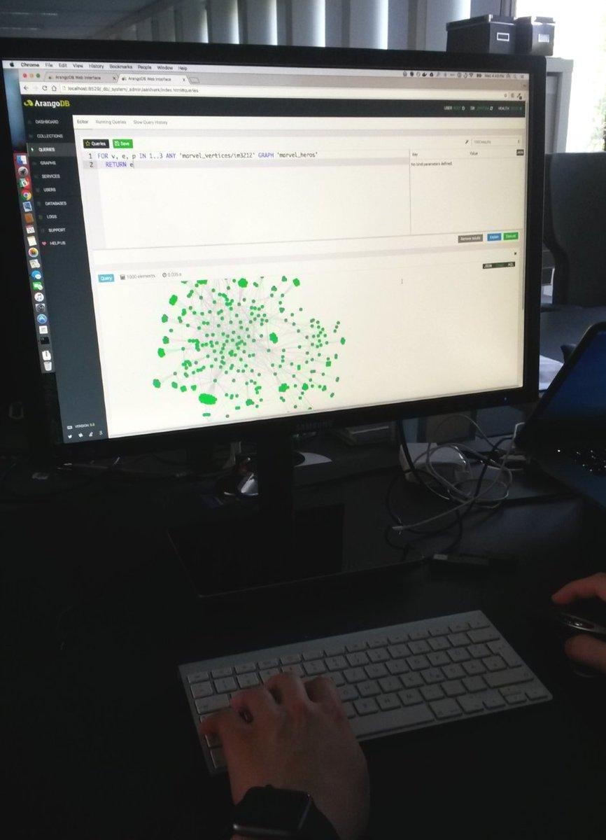 Spying on devs :) Improved #ArangoDB AQL Editor coming soon!  #nosql #graph #database