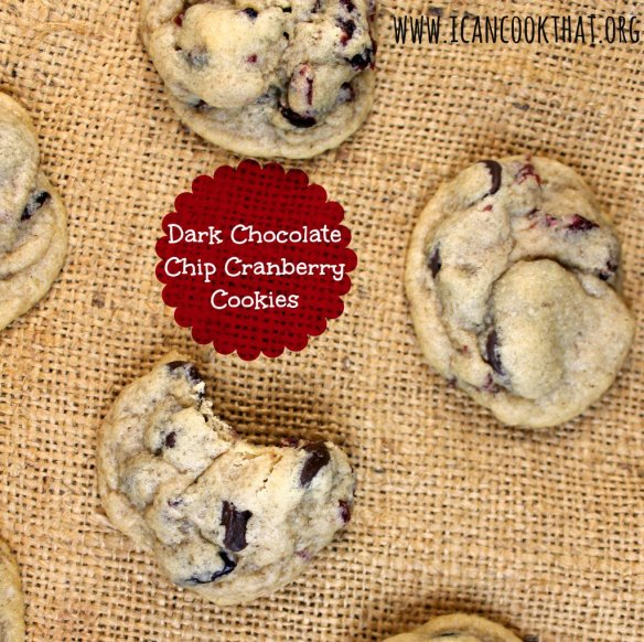 Dark Chocolate Chip Cranberry Cookies