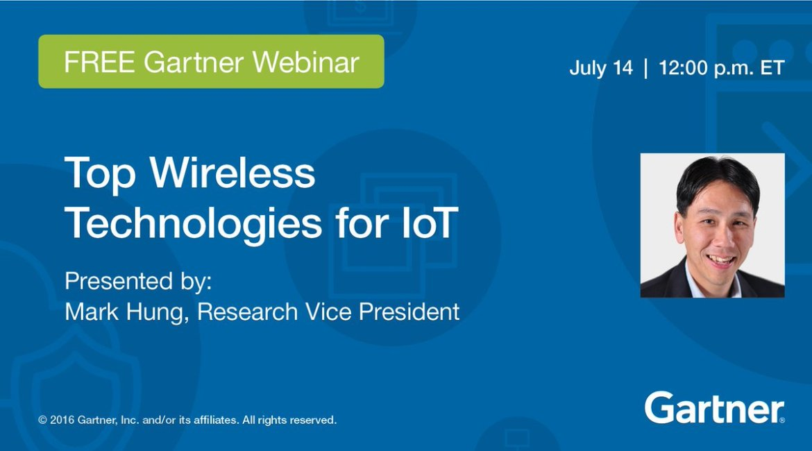 Webinar, 7/14, noon ET: Top #Wireless #Technologies for #IoT