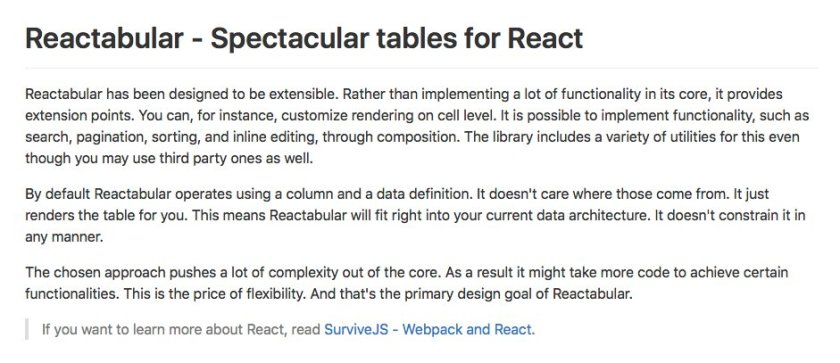Awesome #ReactJS project! Reactabular – Spectacular tables