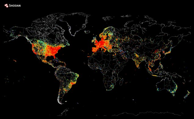 A Map of Every Device in the World That's Connected to the Internet  #internet #iot