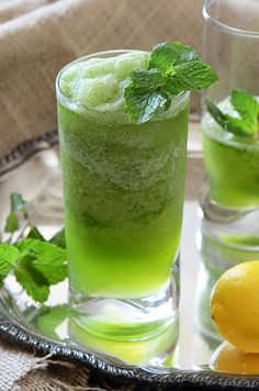 Limonana (Middle Eastern Frozen Mint Lemonade). So ... -