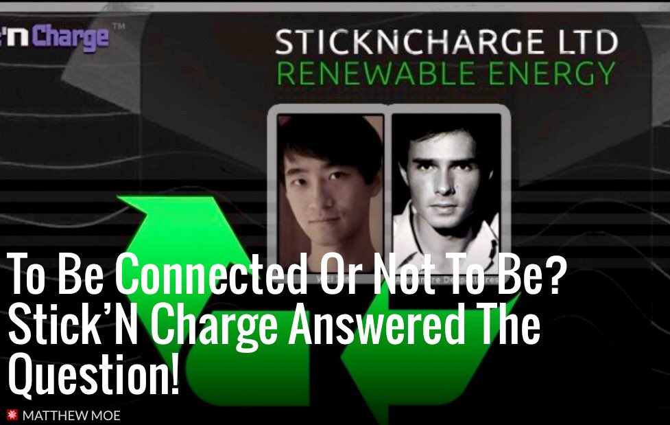 #IoT To Be Connected Or Not To Be? Stick'N Charge Answered The Question!  #InternetOfThings