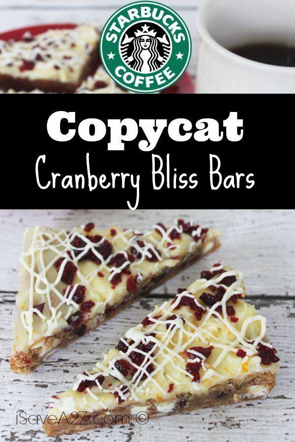 Copycat Starbucks Cranberry Bliss Bars