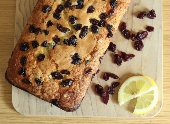 : Fall meets summer in this yummy loaf of Cranberry Lemon Bread.