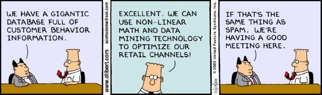 Dilbert's 20 funniest cartoons on #BigData:  #abdsc #Analytics #DataScience