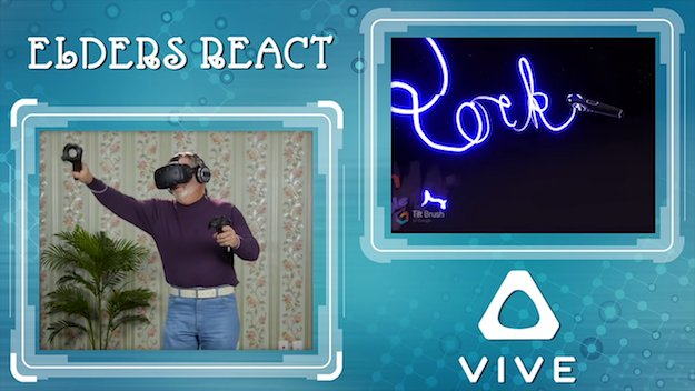 The funniest thing you'll see today: Elderly people react to the HTC Vive  #vr