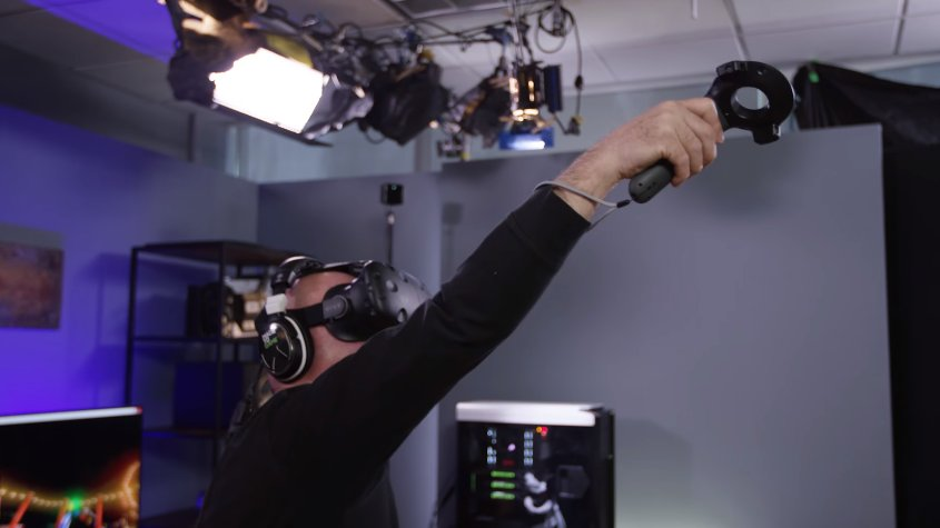 Check Out @MythBusters Jamie Hyneman Try Out @nvidia  #VR Funhouse: