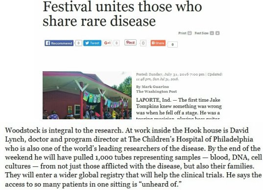 A #RareDisease Has Its Woodstock Moment  #SNRTG #BigData #genomics #science #Biiology #DNA