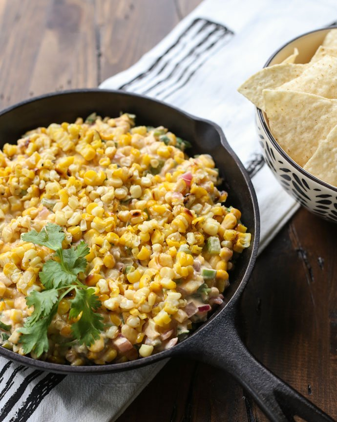 Cheesy grilled corn dip - it\'s for today!!! Get the easy to make -