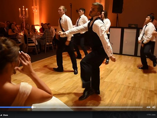 HILARIOUS groomsmen dance at #Texas wedding goes viral  WATCH:  Video courtesy: @MirandaMarrs