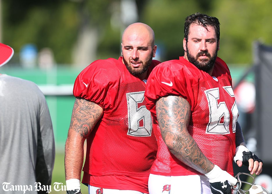 Depth on Bucs offensive line being tested early.  #Bucs #Buccaneers @TBBuccaneers