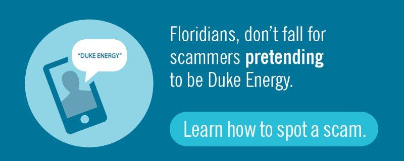Thanks @abcactionnews for helping warn @DukeEnergy FL customers about uptick in scams