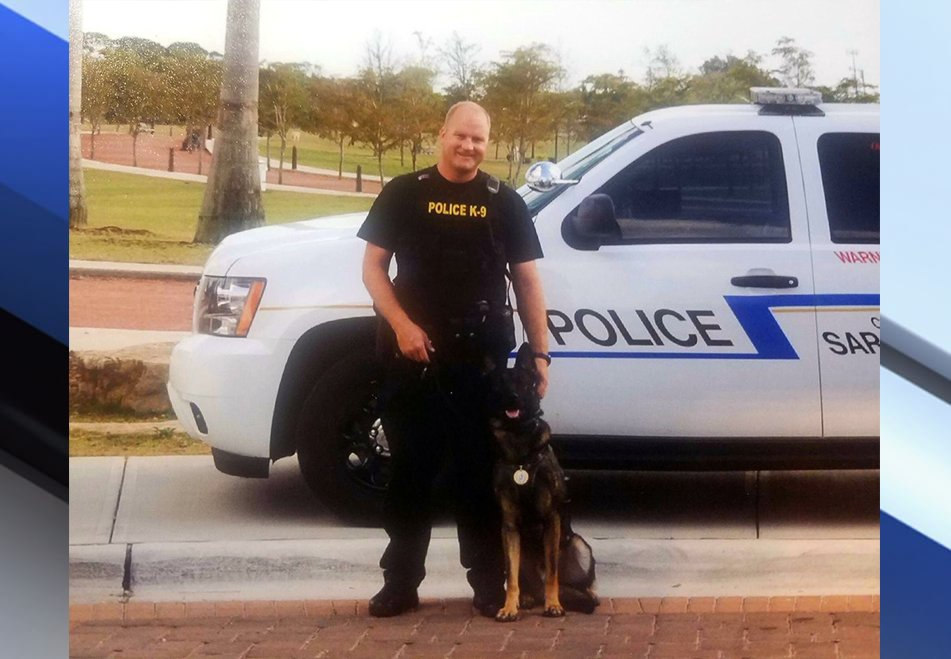 Thinking about Officer Schwenk and the @sarasotapd during this tough time. RIP Kuda. <3