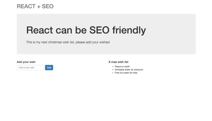 Build an SEO friendly website with #ReactJS: