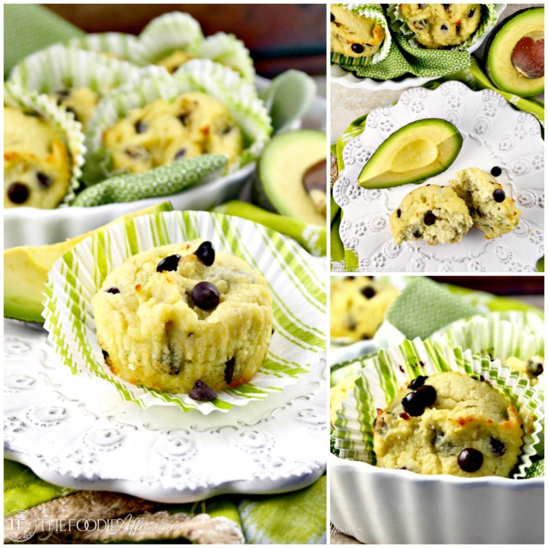 Chocolate Chip Avocado Muffins! Low Carb and super filling with good fat :)