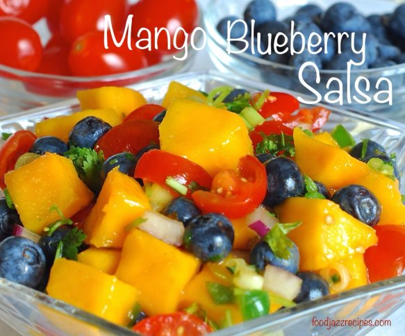 Mango Blueberry Salsa recipe at