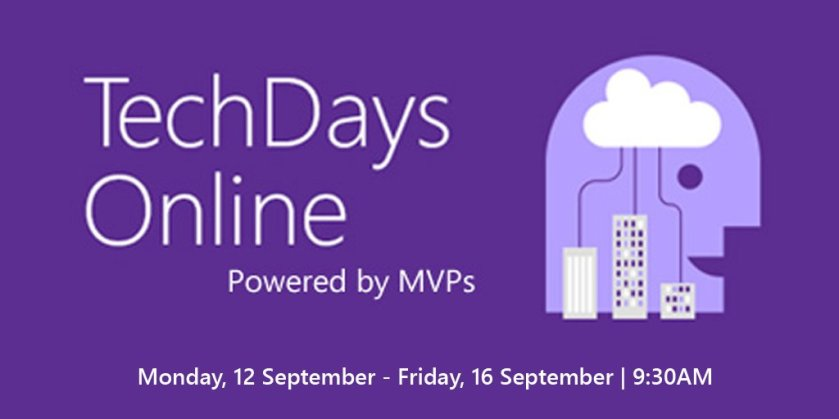 Hot off the press - #TechDays Online is back! Training on #Data, #Office365, #AI, and more: