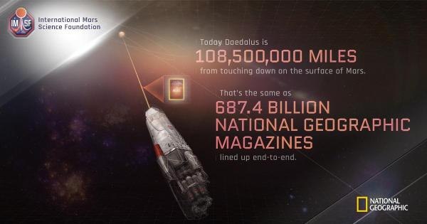 The daedalus spacecraft has to travel approximately 1085