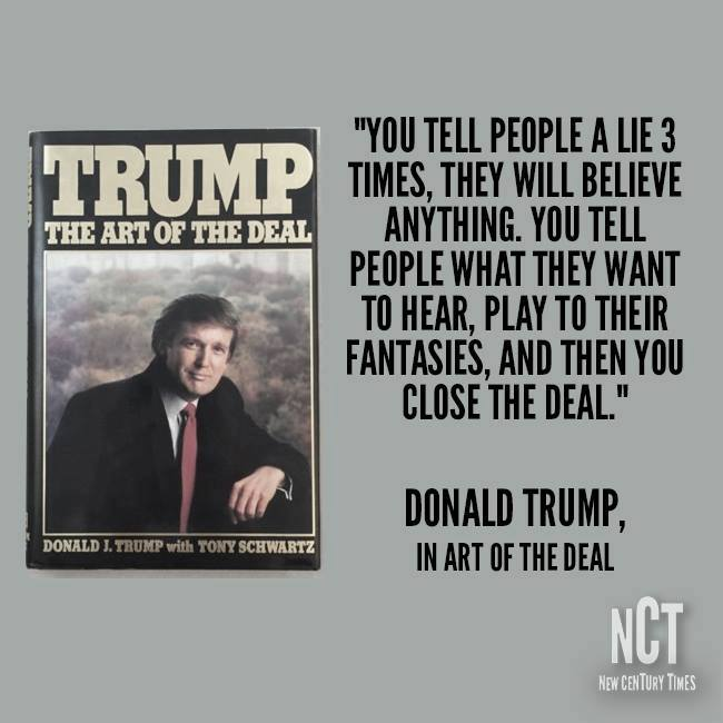 Image result for Donald Trump and the Big Lie+The Art of the Deal