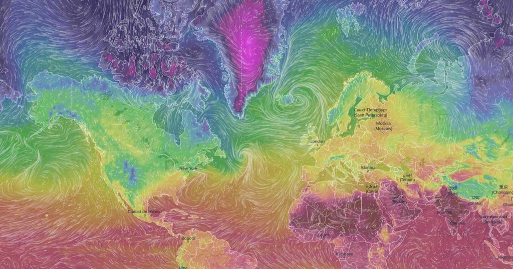 World Map Visualizing Weather in Real-Time  #dataviz