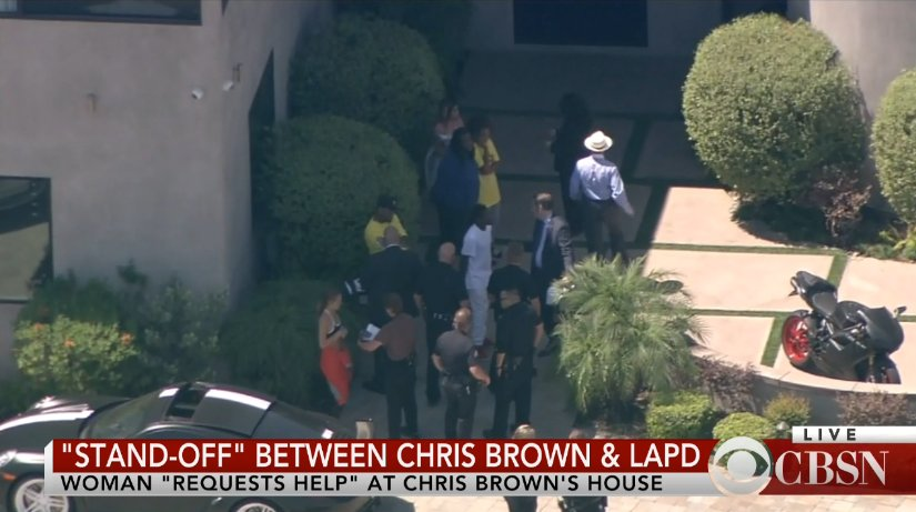 WATCH LIVE: LAPD gives update on situation at singer Chris Brown's home