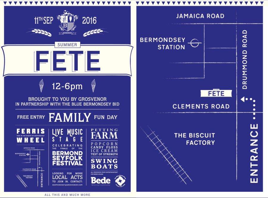 Bermondsey Summer Fete 2016 posters