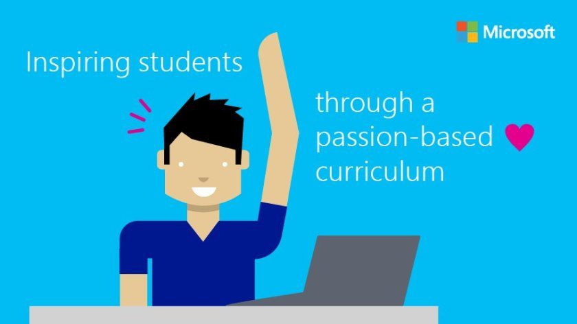 Deep learning happens when students get to follow their passion:  #YouthSpark #MSFTschool