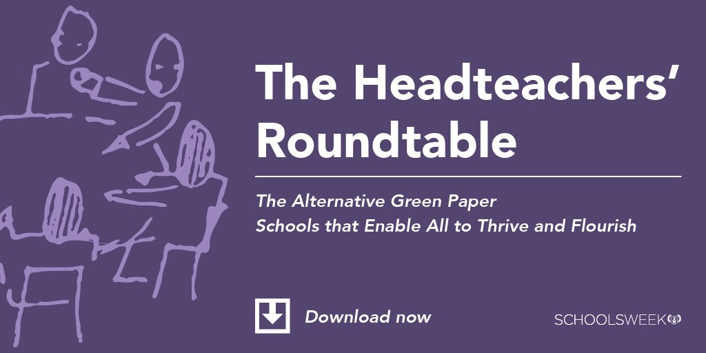 The Alternative Green Paper from @HeadsRoundtable is now available to download #HTRTAGP |