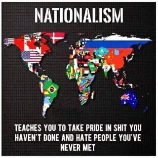 Image result for nationalism makes people take pride in things they have not done