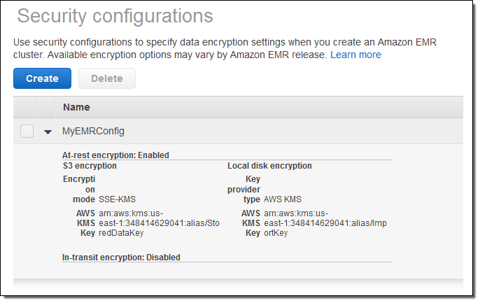 New - At-Rest and In-Transit Encryption for Amazon EMR -  #AWS #Hadoop