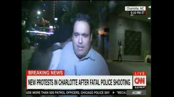 Watch: cnn reporter attacked on live tv during charlotte ...