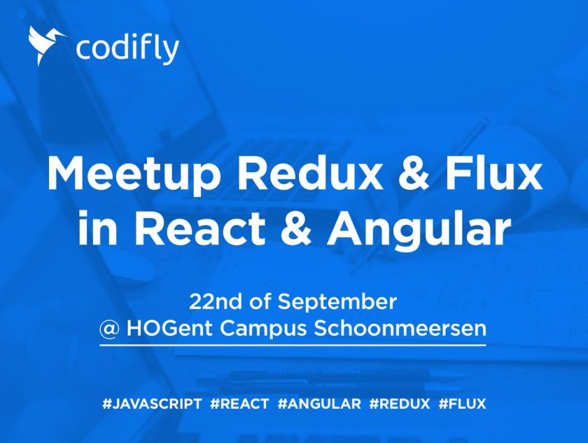 On 22/09, @CodiflyVOF will give a talk at @JSValley_be in #gent!  #reactjs #angular #redux