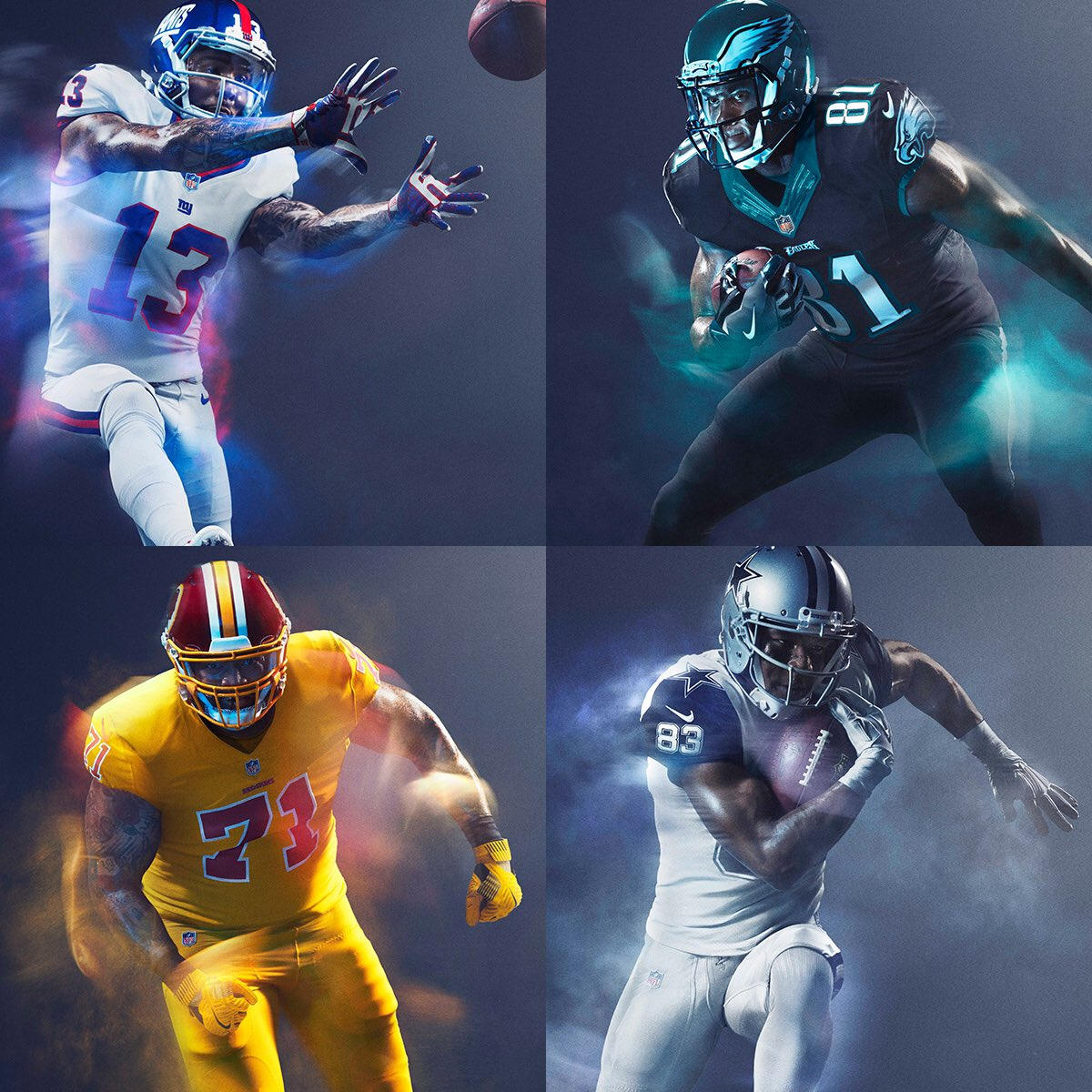 NFL On Twitter 2016 ColorRush NFC East TNF