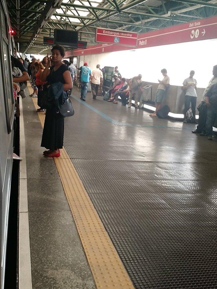 Estação Pedro II da linha 3-Vermelha, tudo parado. (Foto: Magdiel Pedro)
