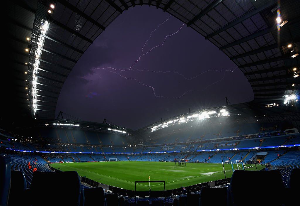 Picture Of Etihad Stadium At Night MCFC
