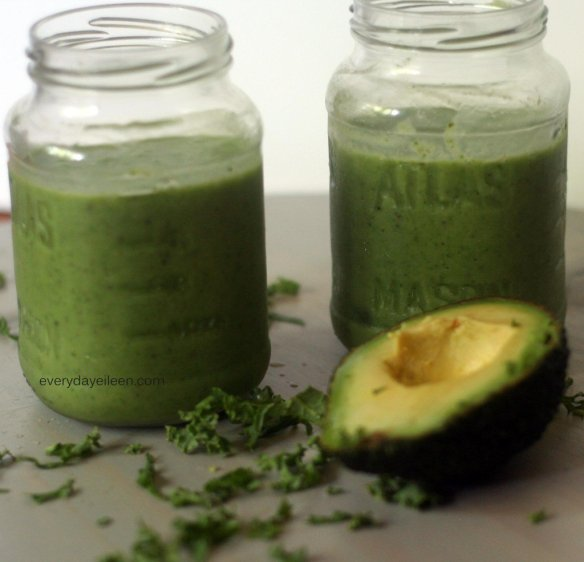 Start the day w/green smoothie! , kale, spinach make a great one!
