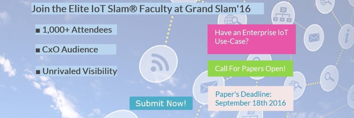 The #IoT Grand Slam™ (& #HealthSlam™) Call for Papers Deadline (#CFP) ends in 24 hours! 9/18