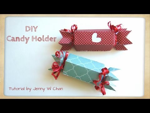 Valentine\'s Day Crafts - DIY Paper Candy Holder & Treat ... -