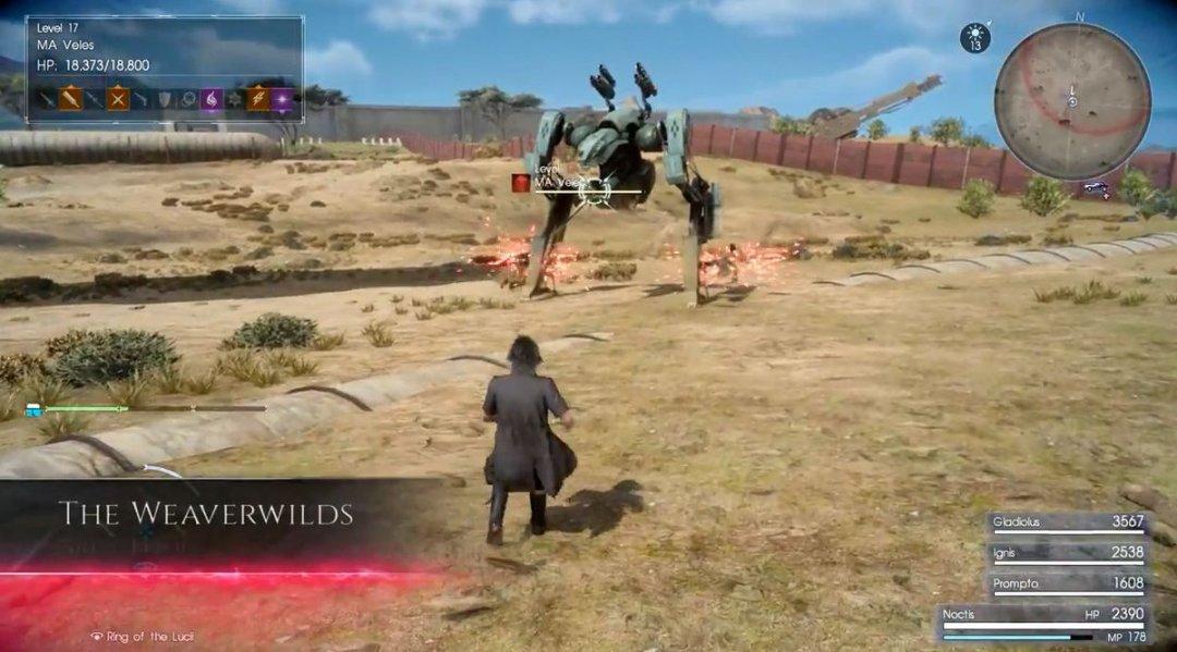 Final Fantasy XV Death Spell Gameplay 3