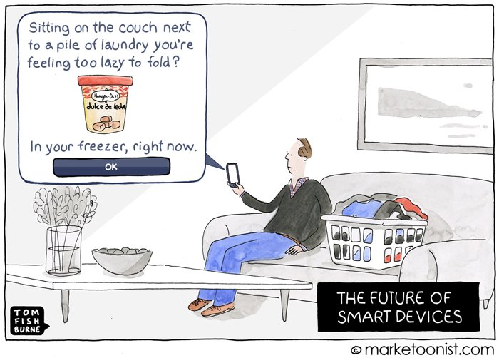 """The Future of Smart Devices"" - new cartoon and post on marketing in the age of IoT"