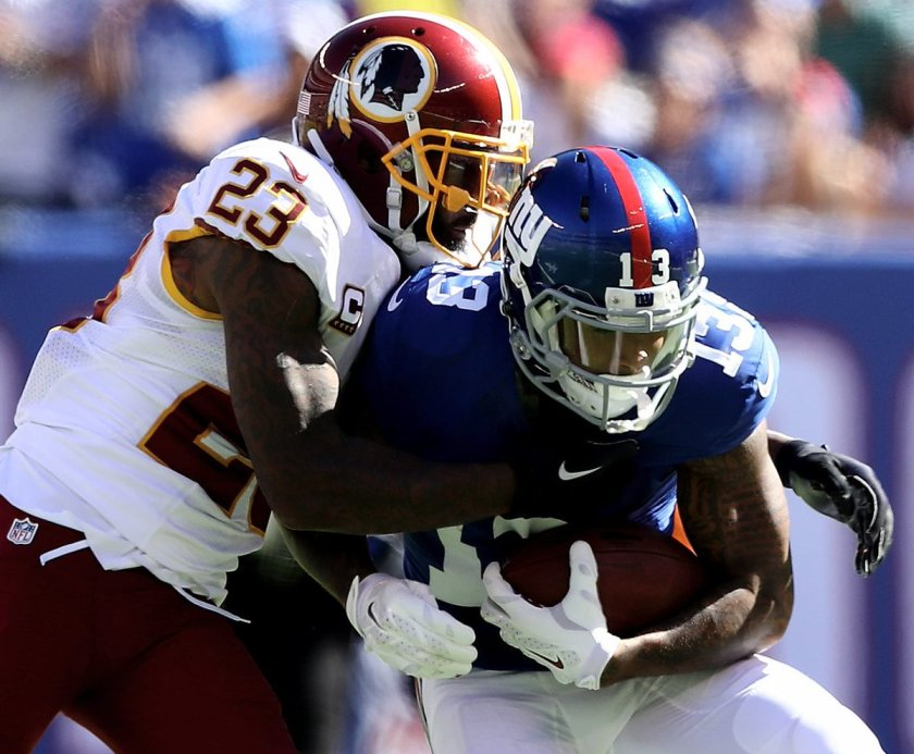 DeAngelo Hall says he was told by doctors he tore his ACL on Sunday against @Giants. #NFL