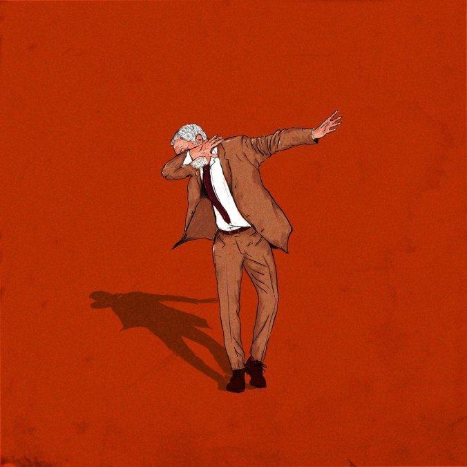 Jeremy Corbyn dabbing