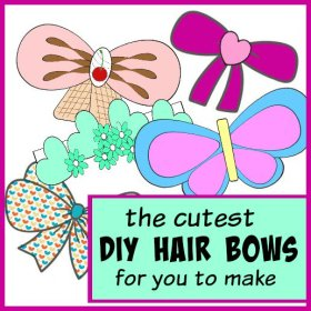 Our Favorite DIY Hair Bows!diy cute kawaii