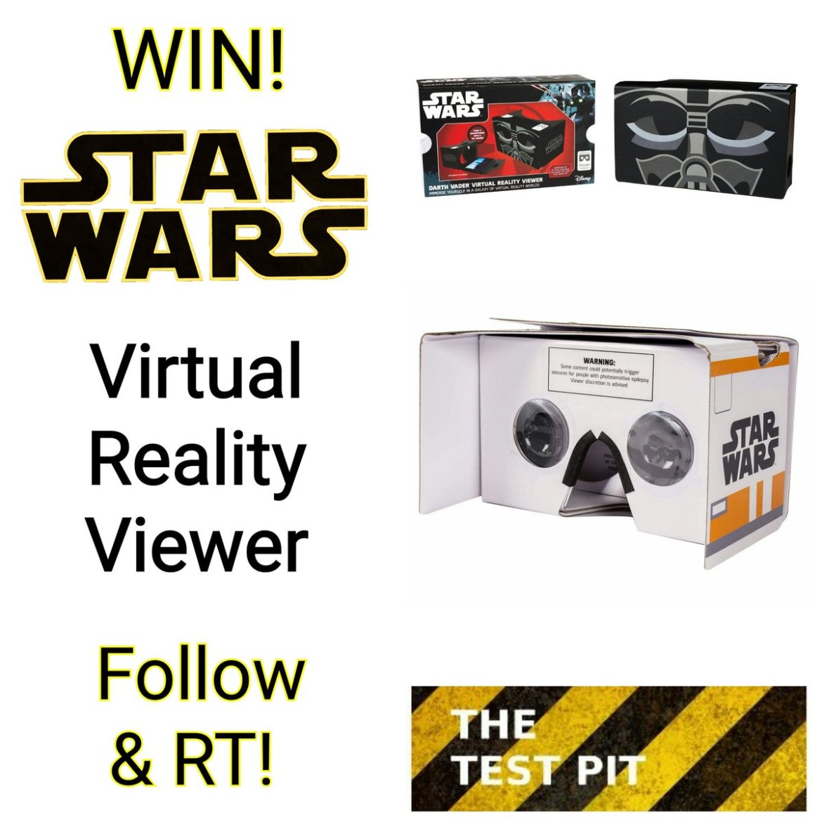 Our latest #competition is to #win 1 of 3 #StarWars #VR Viewers from @wowstuff. Follow & RT!