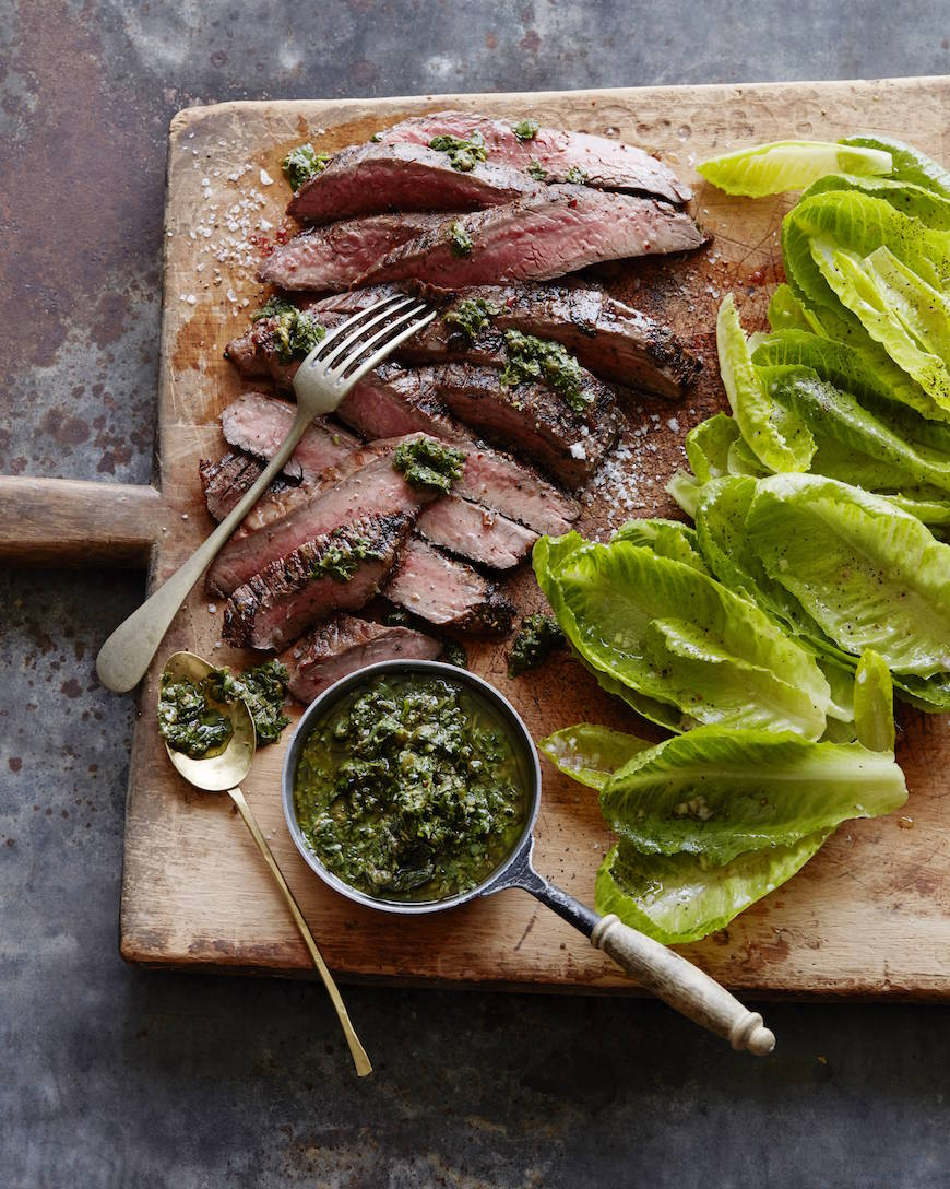 Grilled Flank Steak With Salsa Verde Recipe: