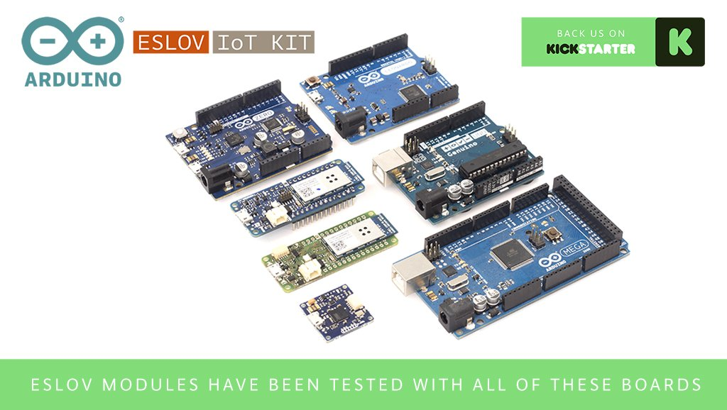 Transform any of your Arduinos into either an ESLOV hub or module: