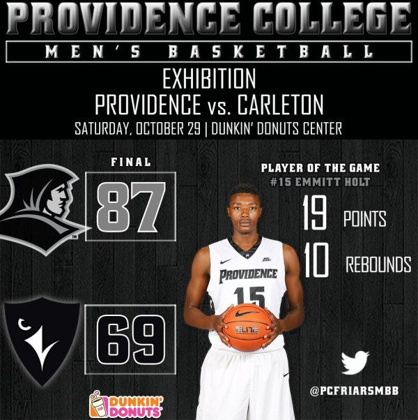 "PC Men's Basketball on Twitter: ""Strong second half by the ..."