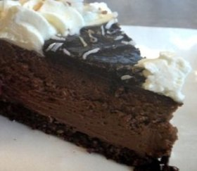Coconut Chocolate Cheesecake